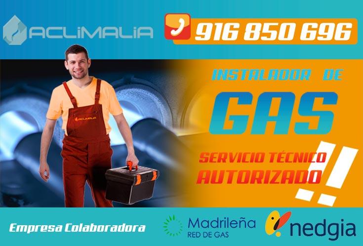 Instalador autorizado de gas natural en Villaverde